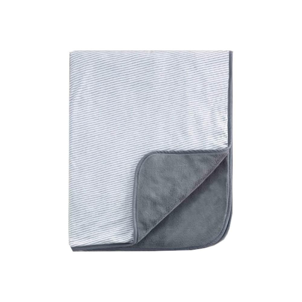 Belily Babydecke/Kuscheldecke 'Streifen' 80 x 100 cm grau/weiß Bild 1