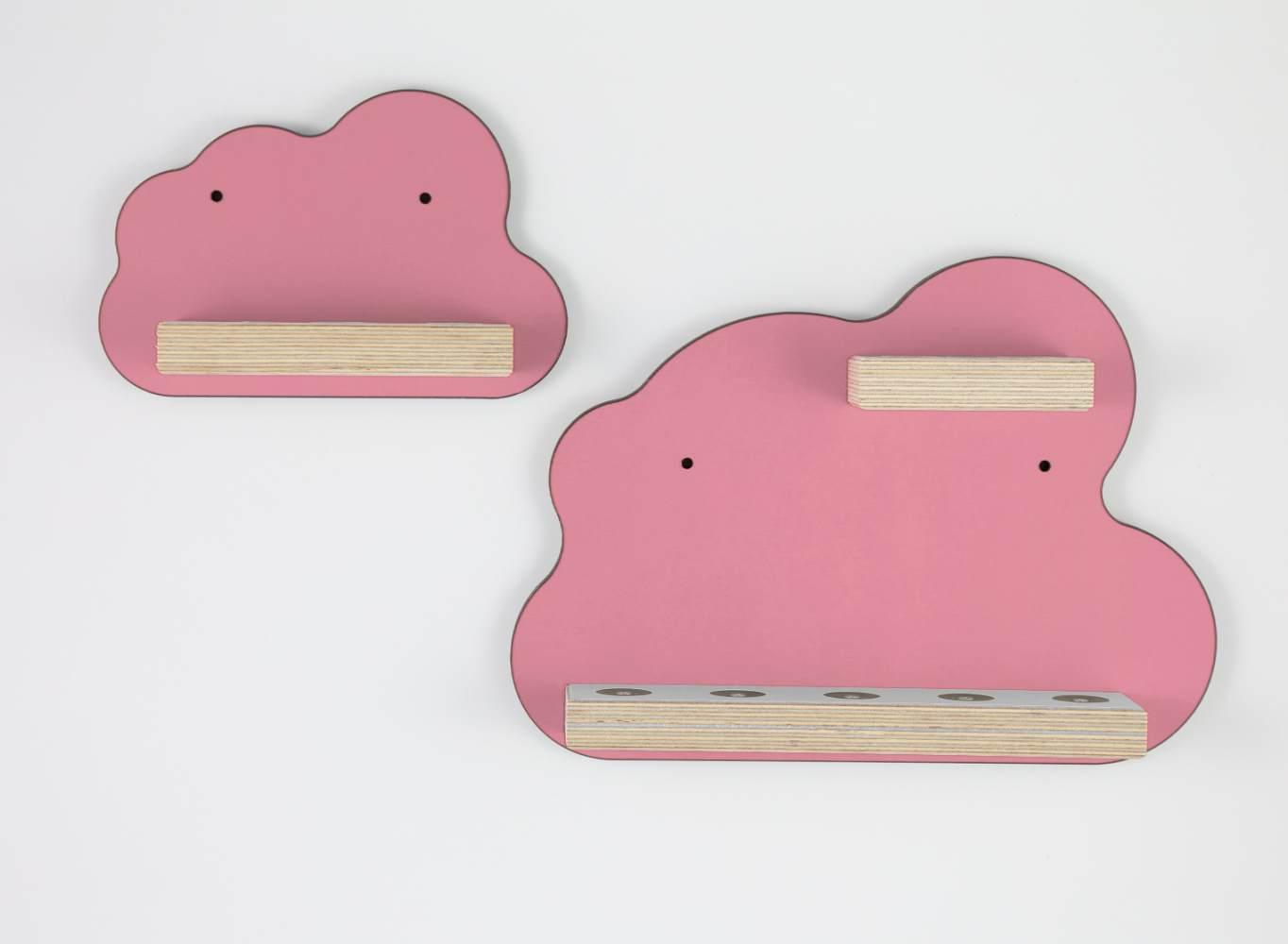 Schreinerei Linden 'Wolken 2er Set' Tonie Regal rosa Bild 1