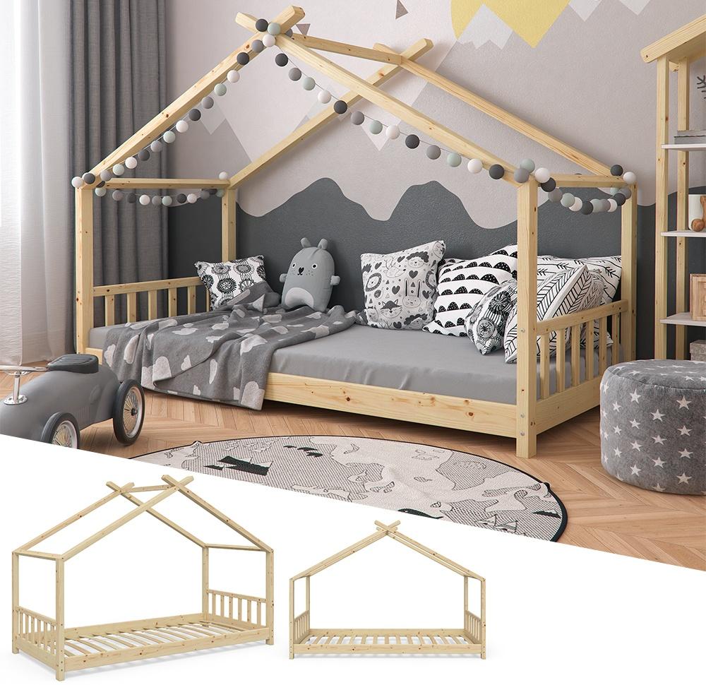 VitaliSpa 'Design' Hausbett Natur, 90x200 cm, Massivholz Bild 1