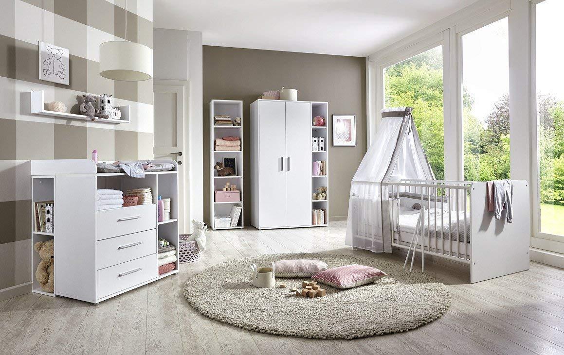7-tlg. Babyzimmer- Set 'KIM 4' weiß Bild 1