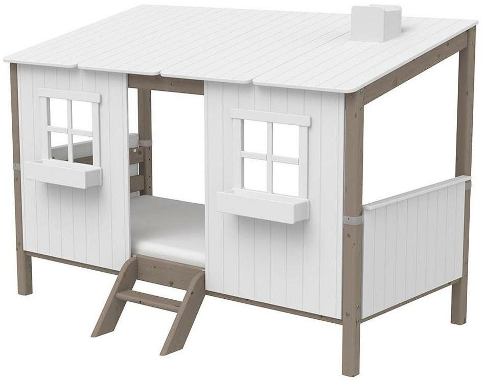 Flexa 'Classic-Haus' Hausbett weiß/grau, 90x200 cm Bild 1