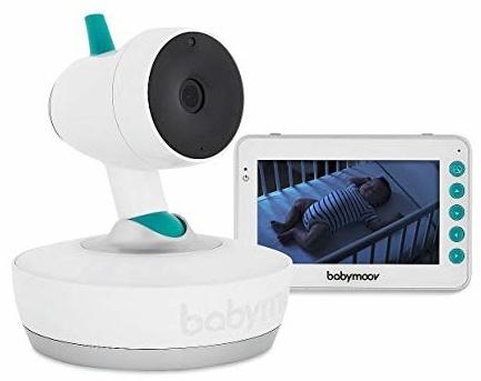 Babymoov 'YOO-Moov' Video-Babyphone, mit 360°drehbarer Kamera, Gegensprechfunktion, Temperaturanzeige, 300 m Reichweite Bild 1