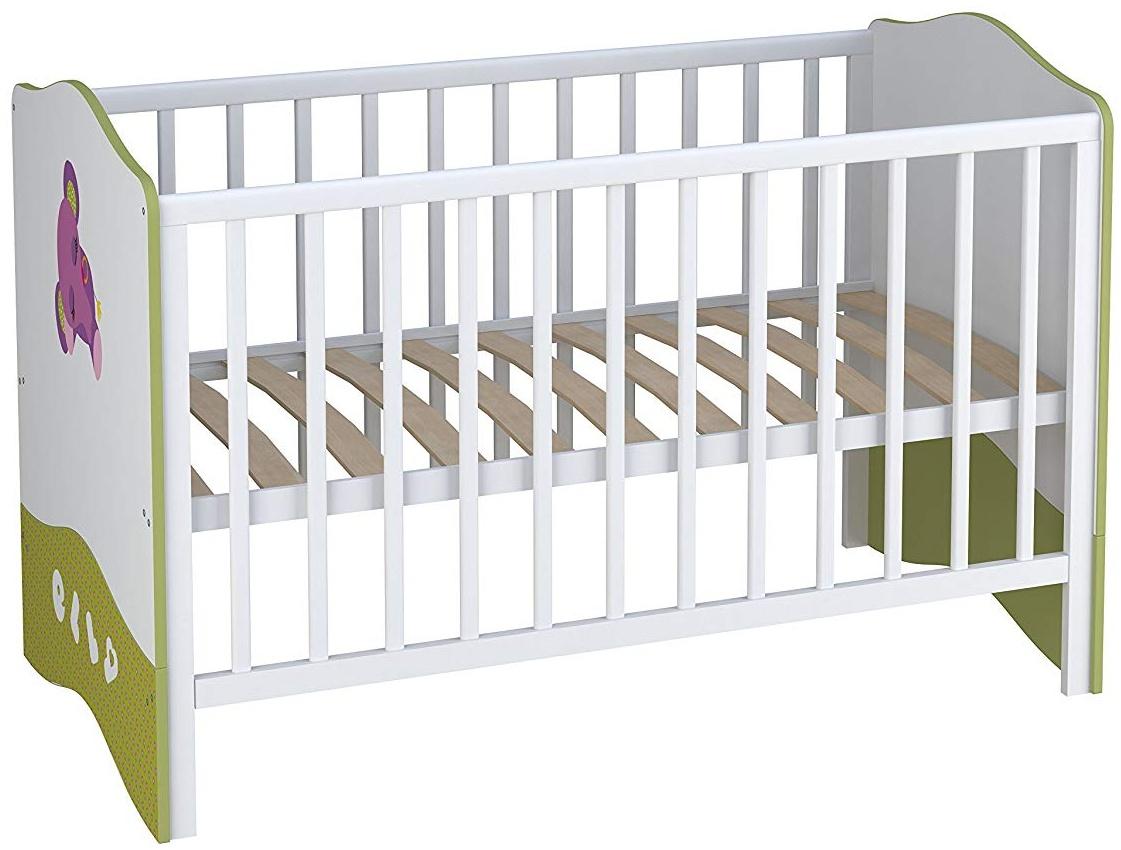 Kombi-Kinderbett Babybett Polini Basic Elly 140x70 weiß-grün Bild 1