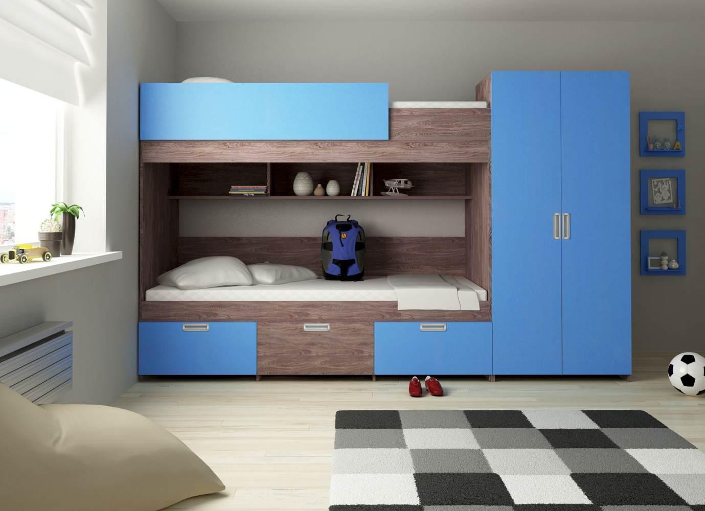 Etagenbett 'Heidelberg' dunkel/blau Bild 1