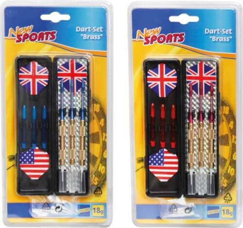 New Sports Dartset Brass, für elektronisches Dart, 3 Stück, 18 g, ca. 17,5x9x1,6 cm, ab 14 Jahren Bild 1