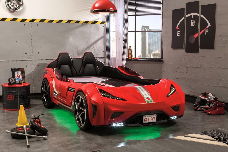 Cilek 'GTS' Autobett rot, mit LED-Beleuchtung und Sound Bild 1