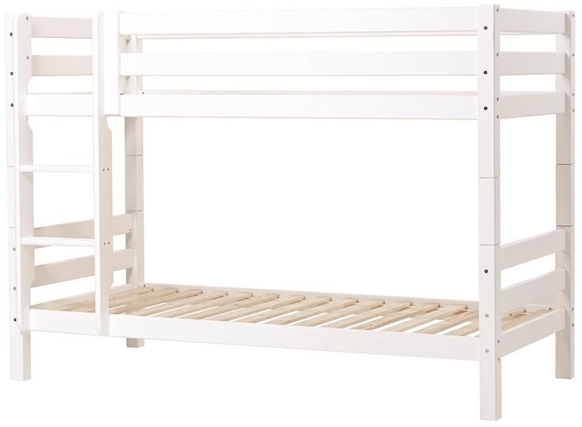 Hoppekids 'Premium' Etagenbett weiß, mit gerader Leiter, 90 x 200 cm, inkl. Lattenroste Bild 1