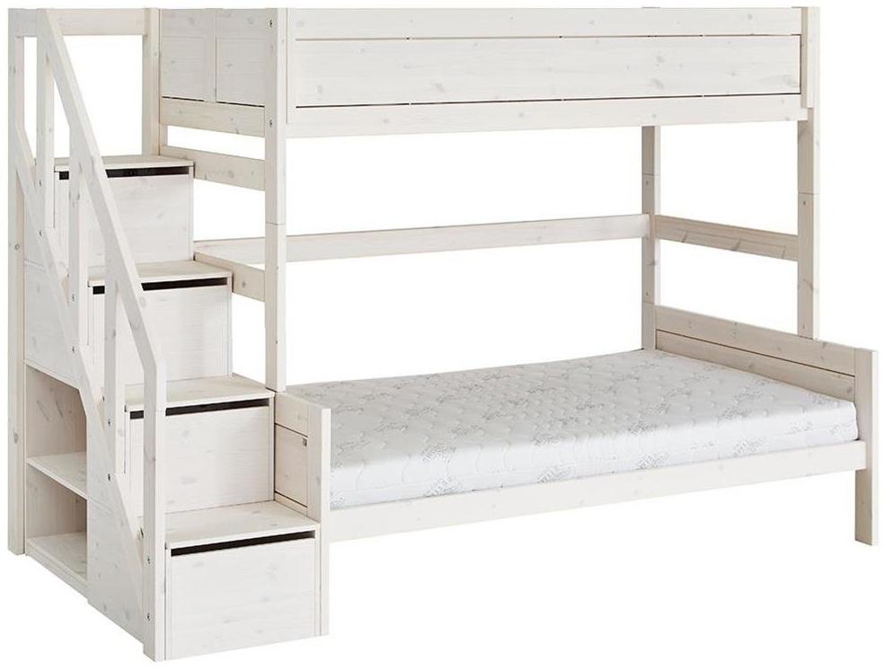 LIFETIME KIDSROOMS 'Family' Etagenbett 90/120 x 200 cm mit Treppe inkl. Deluxe Lattenrost Bild 1