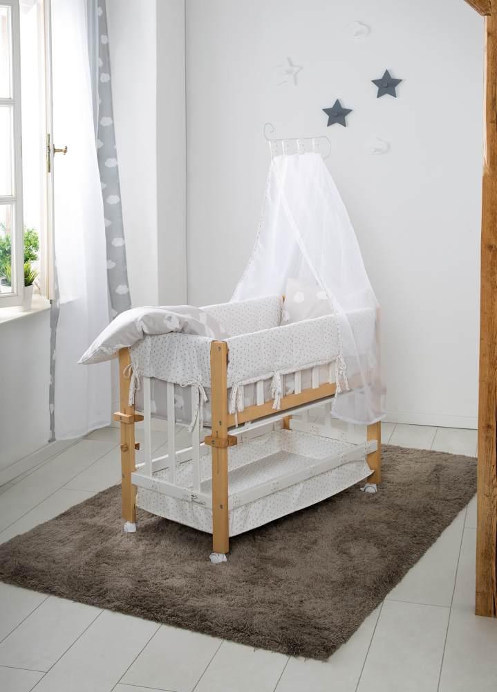 roba 'Kleine Wolke' Babybett 4 in 1, bicolor, mit Ausstattung Bild 1
