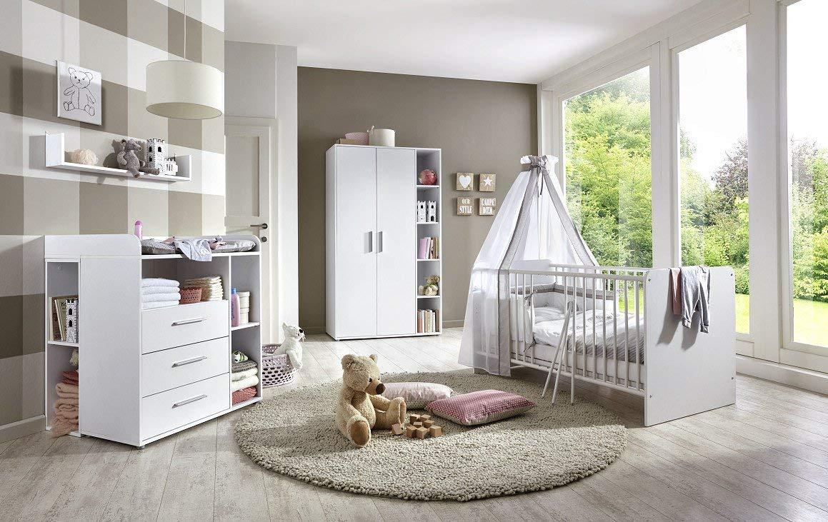 6-tlg. Babyzimmer-Set 'KIM 2' weiß Bild 1