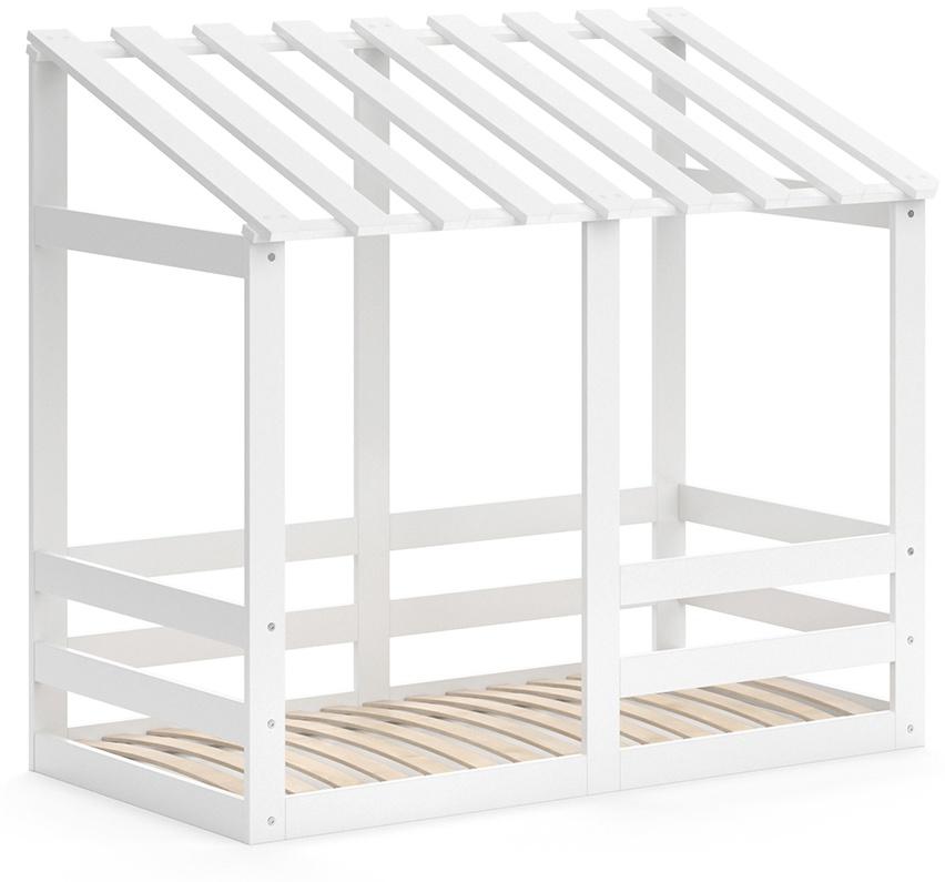 VitaliSpa 'Silvia' Hausbett, Weiß, 70x140cm, Massivholz Buche, inkl. Lattenrost und Rausfallschutz Bild 1