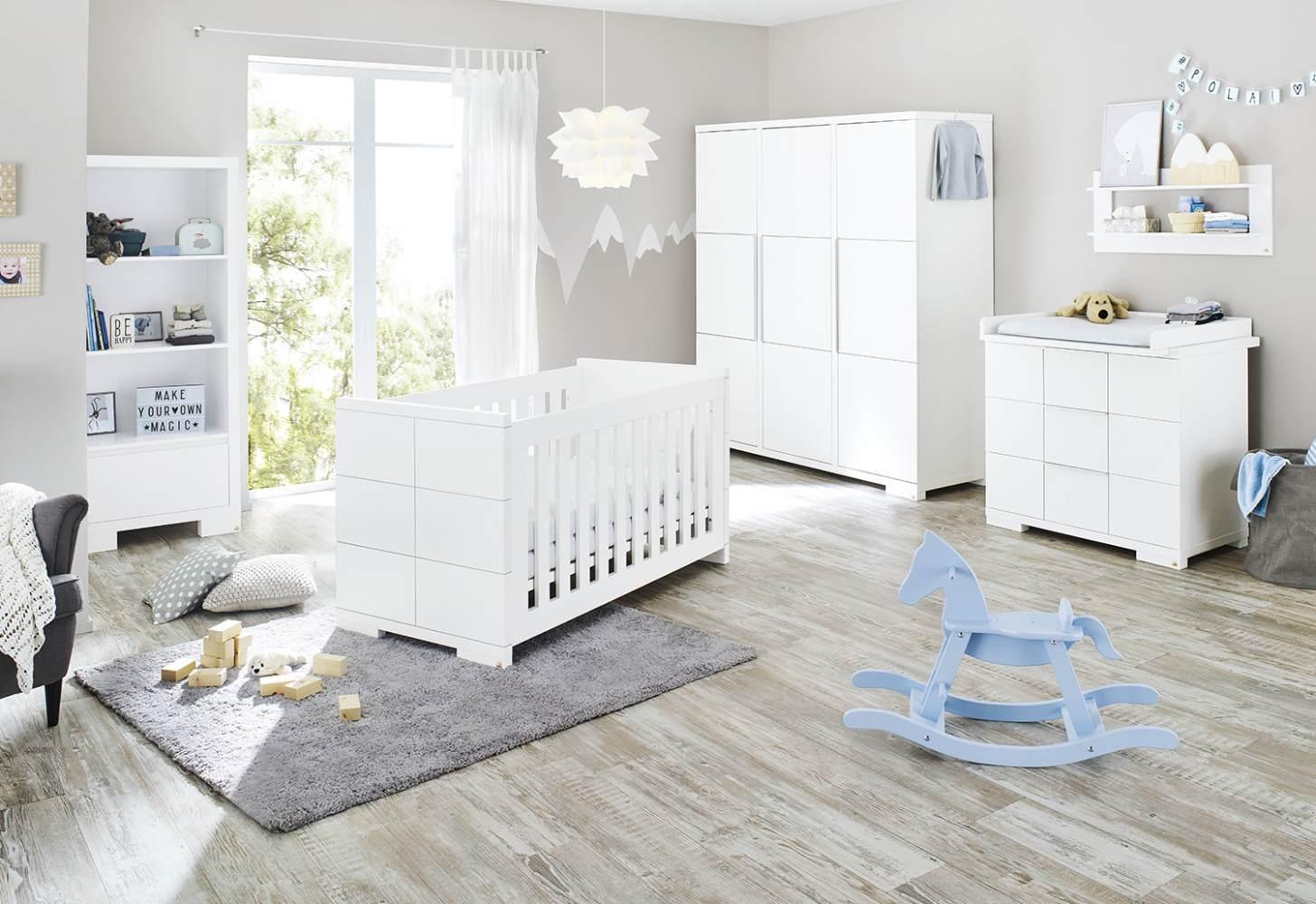 Pinolino 'Polar' 3-tlg. Babyzimmer-Set weiß, 3-türig Bild 1