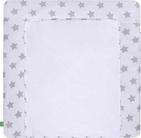 LULANDO 'Grey Stars/White' Wickelauflage 75 x 85 cm weiß/grau Bild 1