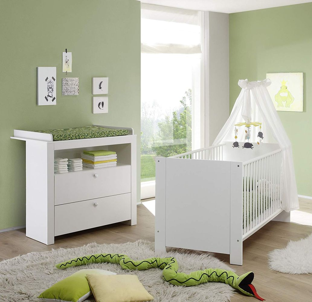 Trendteam 2-tlg. Babyzimmer-Set Olivia weiß, inkl. Kinderbett und Wickelkommode Bild 1