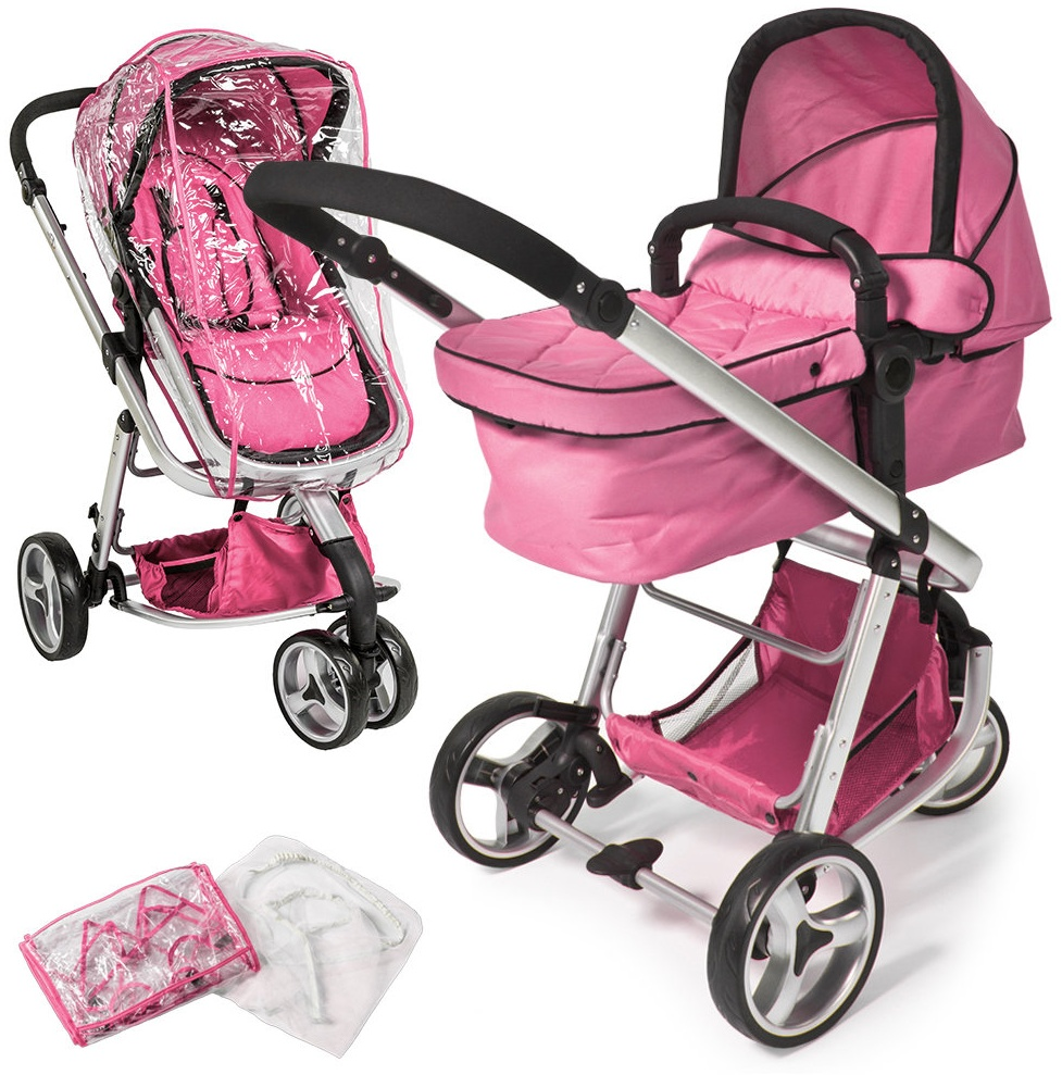 Kombikinderwagen Dreirad pink Bild 1
