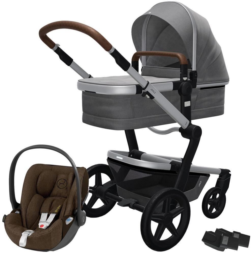 Joolz 'Day+' Kombikinderwagen Radiant Grey inkl. Cybex Cloud Z Plus Babyschale Khaki Green Bild 1
