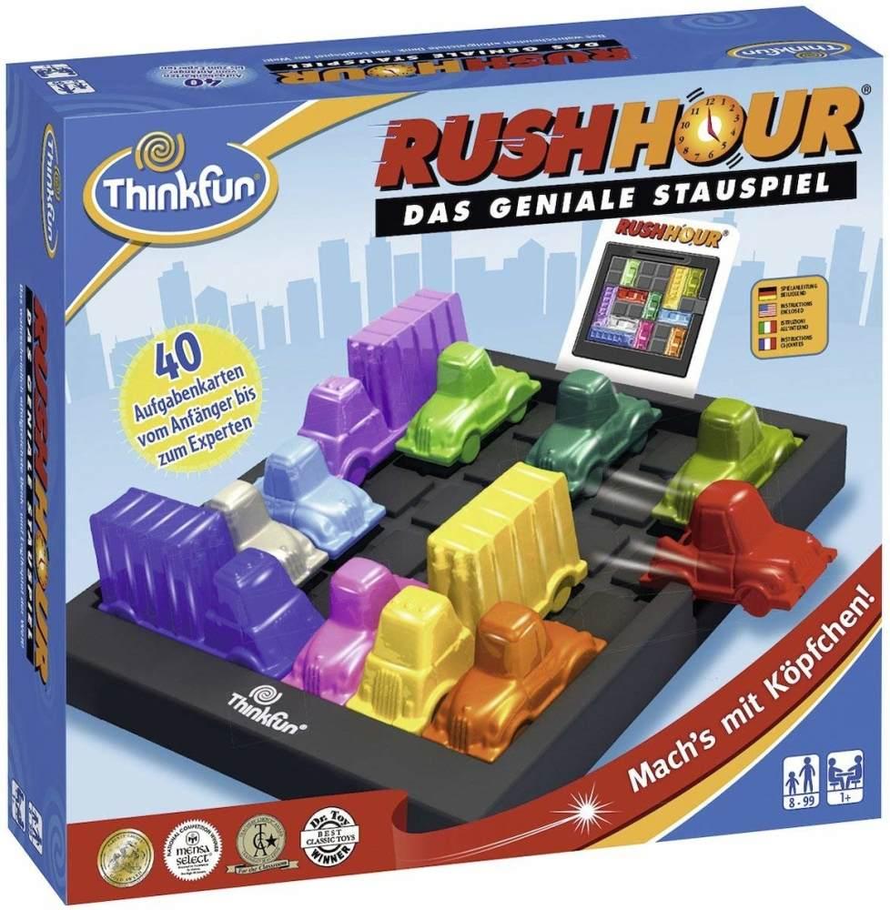 ThinkFun Rush Hour, Logik- und Strategiespiel, für Kinder und Erwachsene, Brettspiel ab 1 Spieler, ab 8 Jahren Bild 1