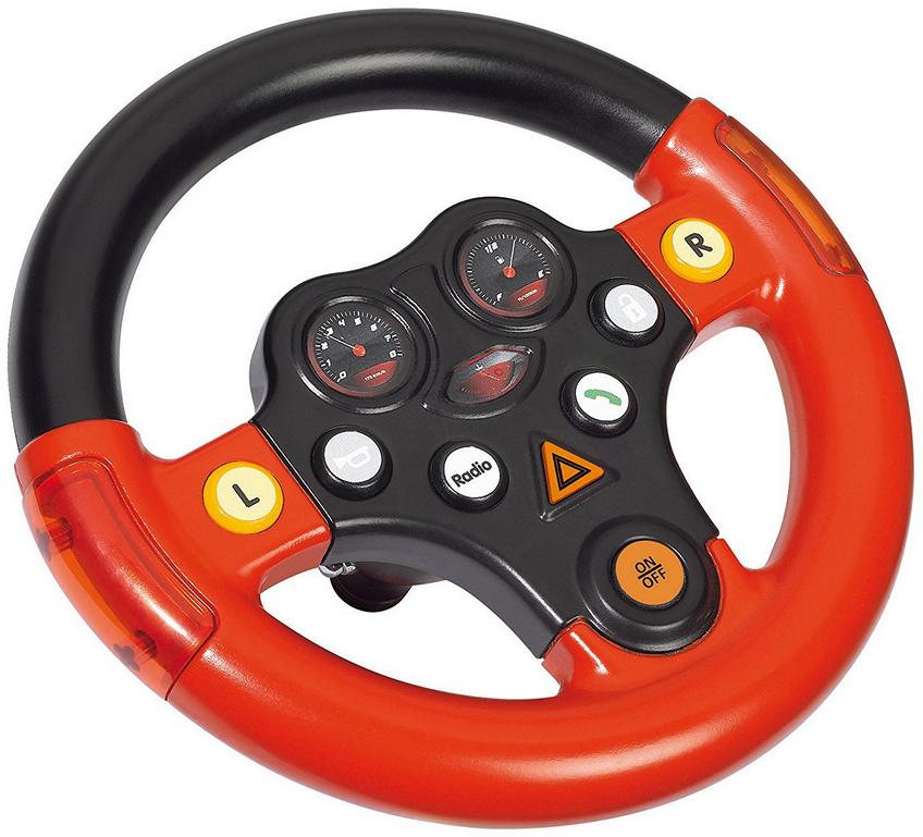 BIG - Multi-Sound-Wheel - Lenkrad mit Verkehrssounds, für Bobby Cars ab dem Baujahr 2010, sowie für BIG-Traktoren, Spielzeuglenkrad für Kinder ab 1 Jahr Bild 1