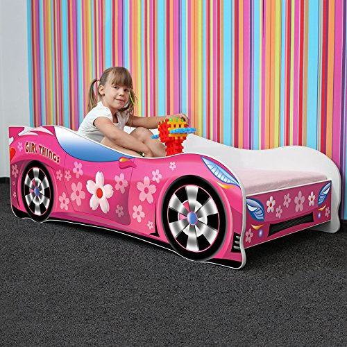 Nobiko Autobett pink 160 x 80 cm Bild 1