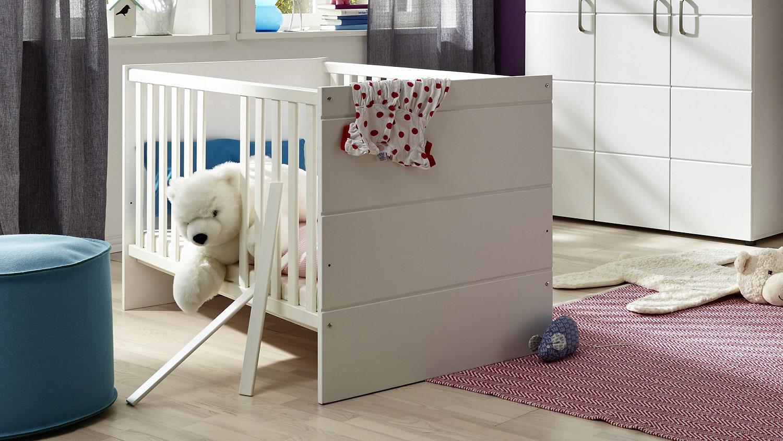 Trendteam 'Luccas' Gitterbett 70x140 cm mit Juniorbettseiten, weiß Bild 1