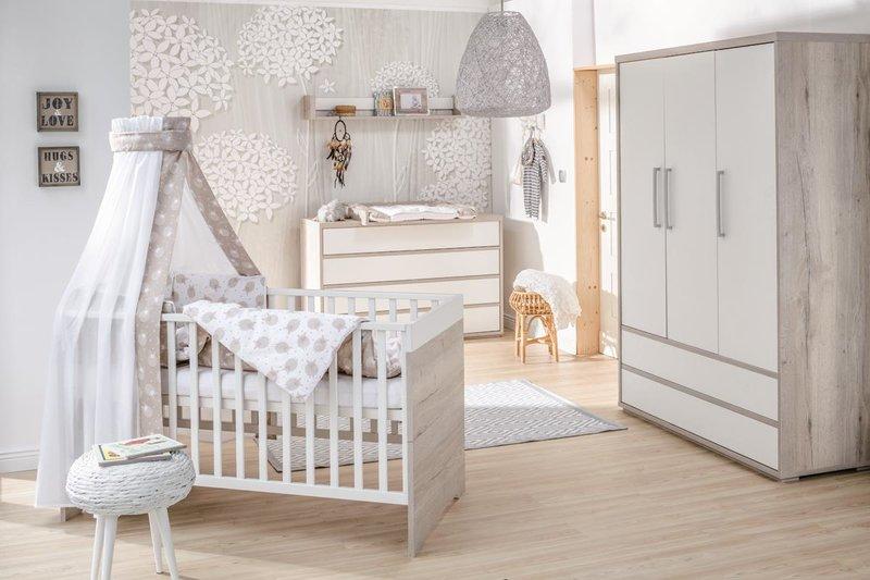 Schardt 'Mick' 3-tlg. Babyzimmer-Set Schrank 3-türig Bild 1