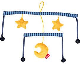 sigikid, Mädchen und Jungen, Basis Soft Mobile, sigimix-Baby-System, Mond und Sterne, Blau/Gelb, 41898 Bild 1