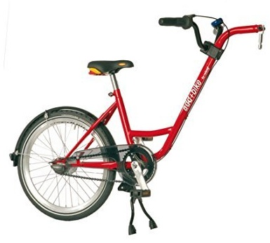 Diverse Unisex – Erwachsene Trailer add + bike-3091803200 Bike, Rot, One Size Bild 1