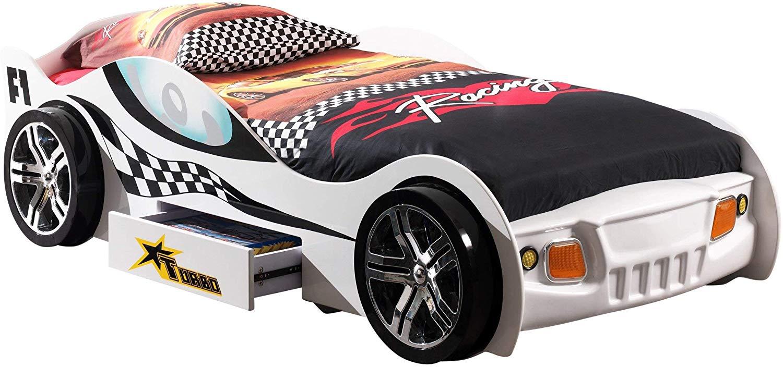Vipack 'Turbo Racing' Autobett weiß Bild 1
