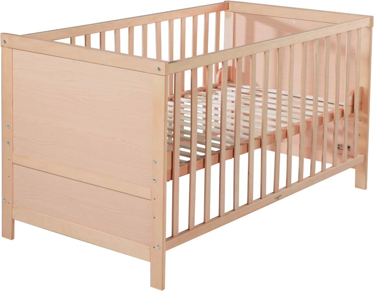 roba 'Lene' Kombi Kinderbett, natur, 70 x 140 cm, Lattenrost 3-fach höhenverstellbar Bild 1