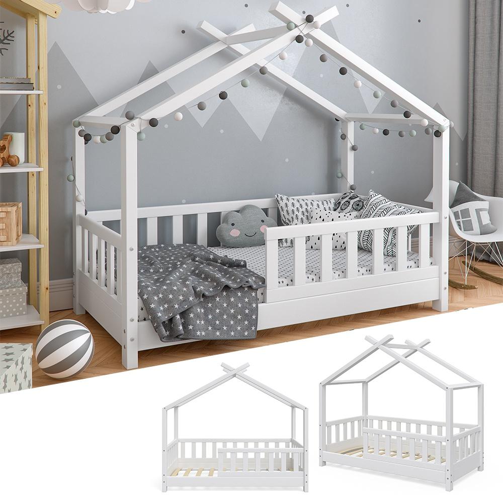 VitaliSpa 'Design' Hausbett 70x140 cm weiß, Massivholz Bild 1