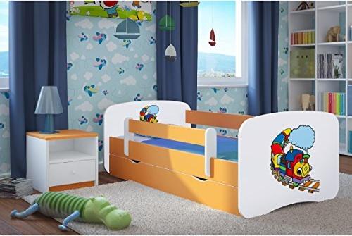 Kocot Kids 'Lokomotive' Kinderbett 70 x 140 cm Buche, mit Rausfallschutz, Matratze, Schublade und Lattenrost Bild 1