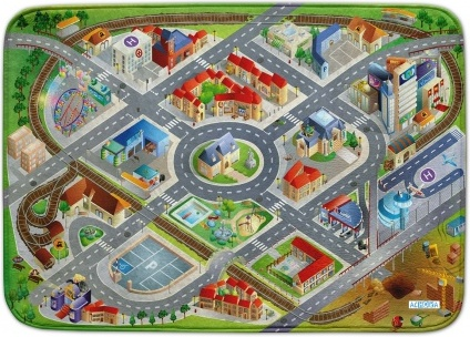 Ultrasoft Spielteppich 'Stadt' 130x180 Bild 1