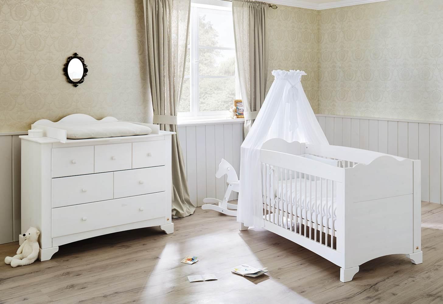 Pinolino 'Pino' 2-tlg. Babyzimmer-Set weiß, breit Bild 1