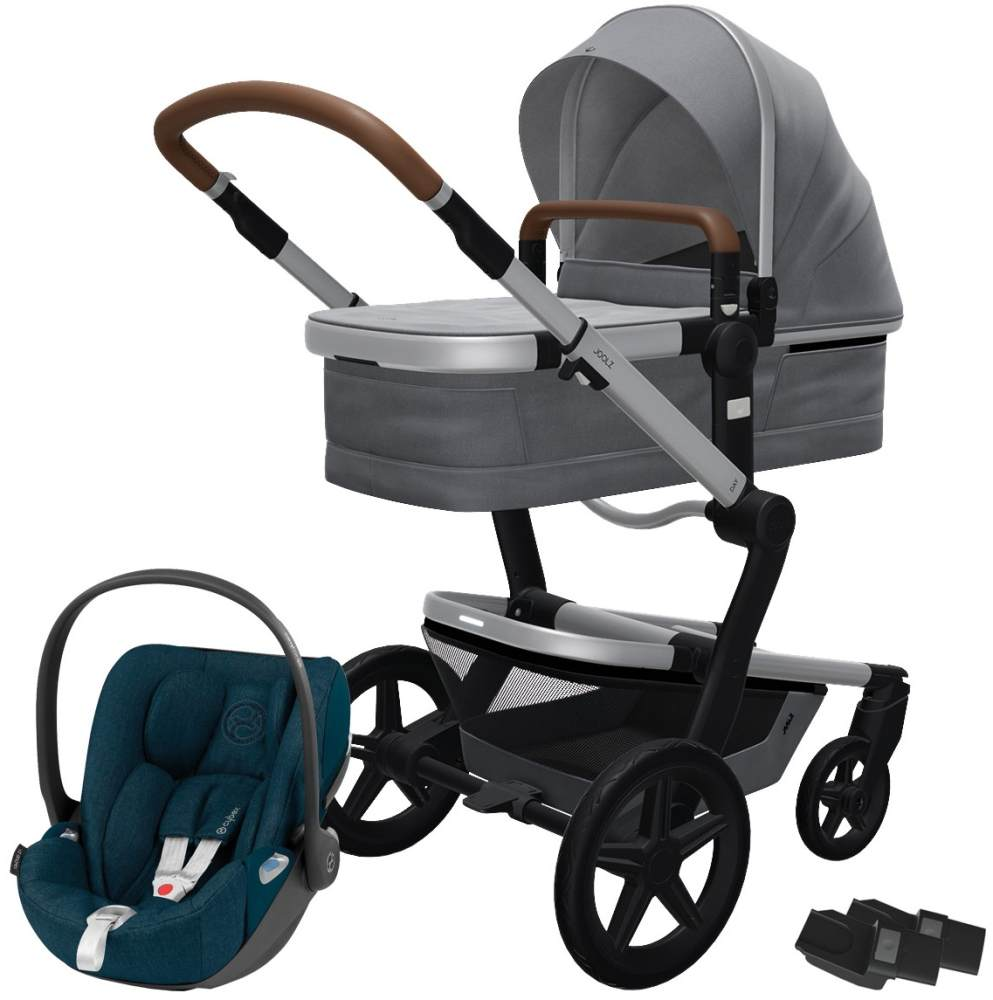 Joolz 'Day+' Kombikinderwagen Gorgeous Grey inkl. Cybex Cloud Z Plus Babyschale Mountain Blue Bild 1