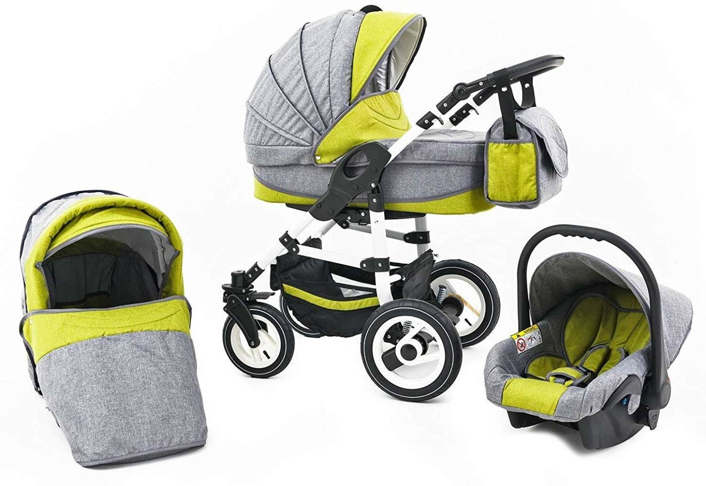 Tabbi ECO LN - 3 in 1 Kombi Kinderwagen Luft Yellow Bild 1