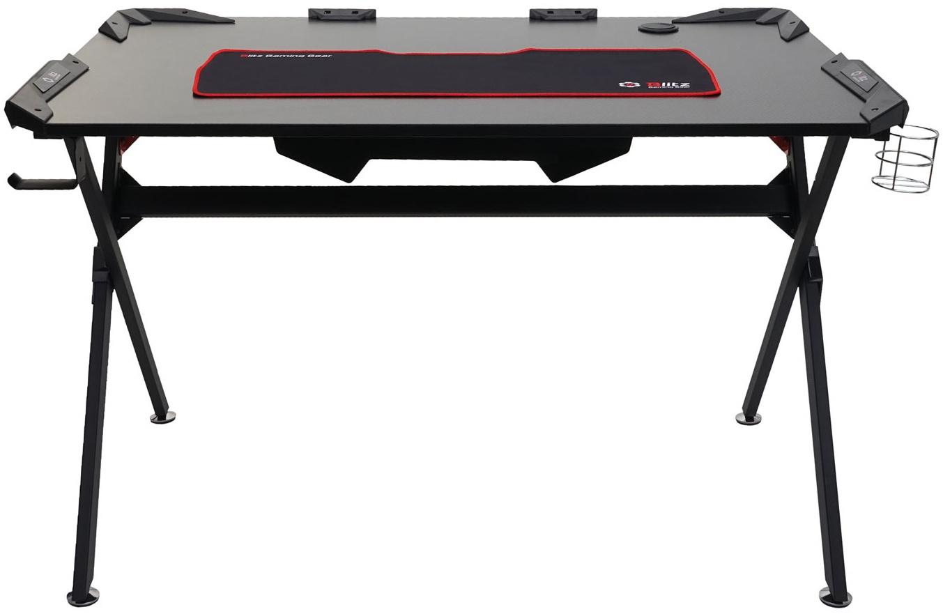 Mendler Jugend-Schreibtisch HWC-F11 120x75cm schwarz Bild 1