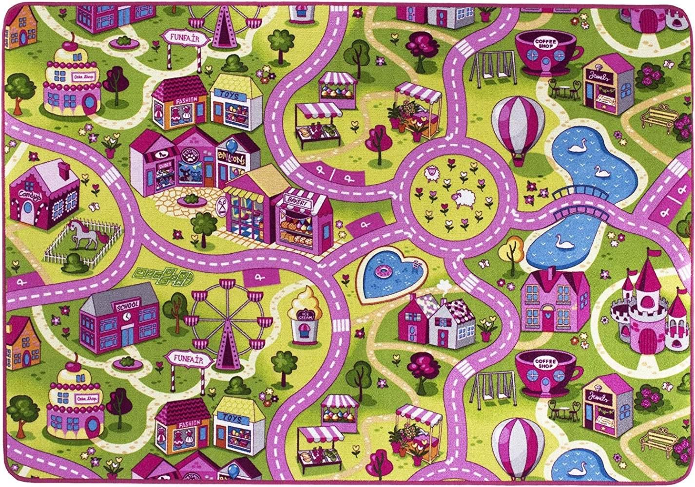 misento 'City' Kinderteppich 140x200 cm Bild 1