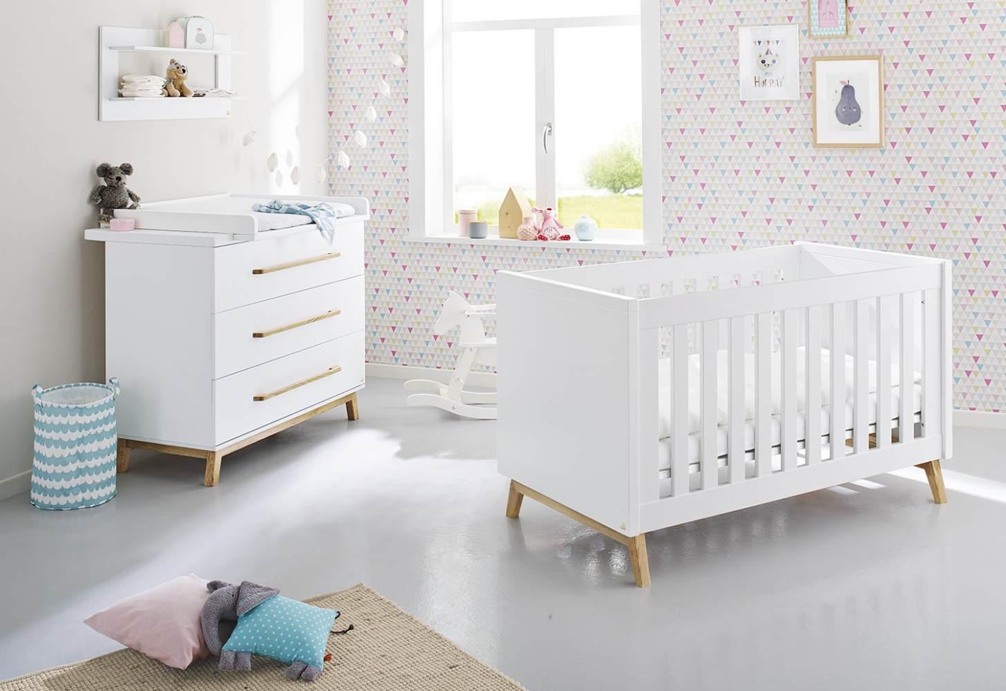 Pinolino 'Riva' 2-tlg. Babyzimmer-Set weiß Bild 1
