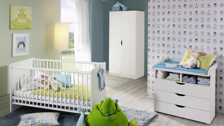 Rauch 3-tlg. Babyzimmer-Set 'ALVARA 2' alpinweiß Bild 1