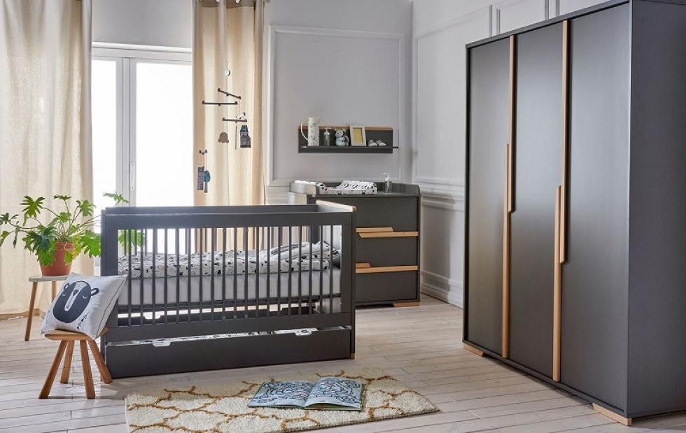 4-tlg. Babyzimmer-Set 'Spring' grau Bild 1