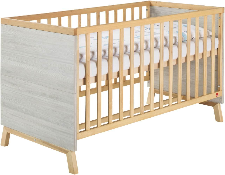 Schardt 'Miami Grey' Kombi-Kinderbett 70x140 cm, grau, 3-fach höhenverstellbar, 3 Schlupfsprossen Bild 1