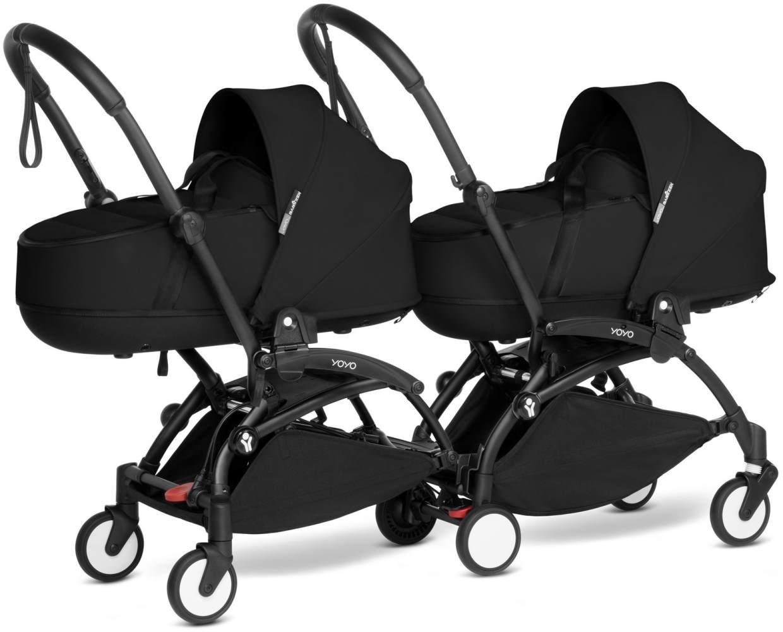 Babyzen YOYO2 schwarzer Rahmen mit CONNECT komplett für 2 Neugeborene Farbe schwarz Bild 1