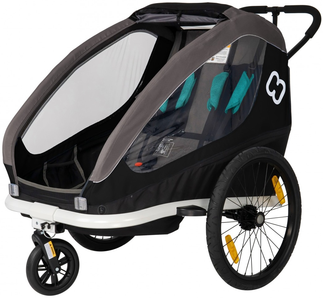 Hamax 'Traveller' Fahrradanhänger für 2 Kinder Schwarz Bild 1