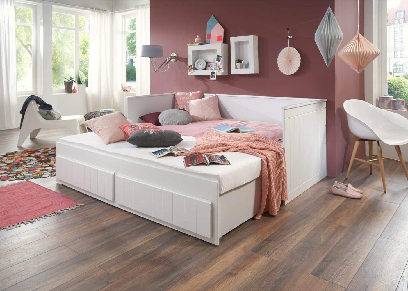 Relita 'Aarhus-13' Funktionsbett weiß, inkl. 2 Schubladen 90/180x220 cm Bild 1