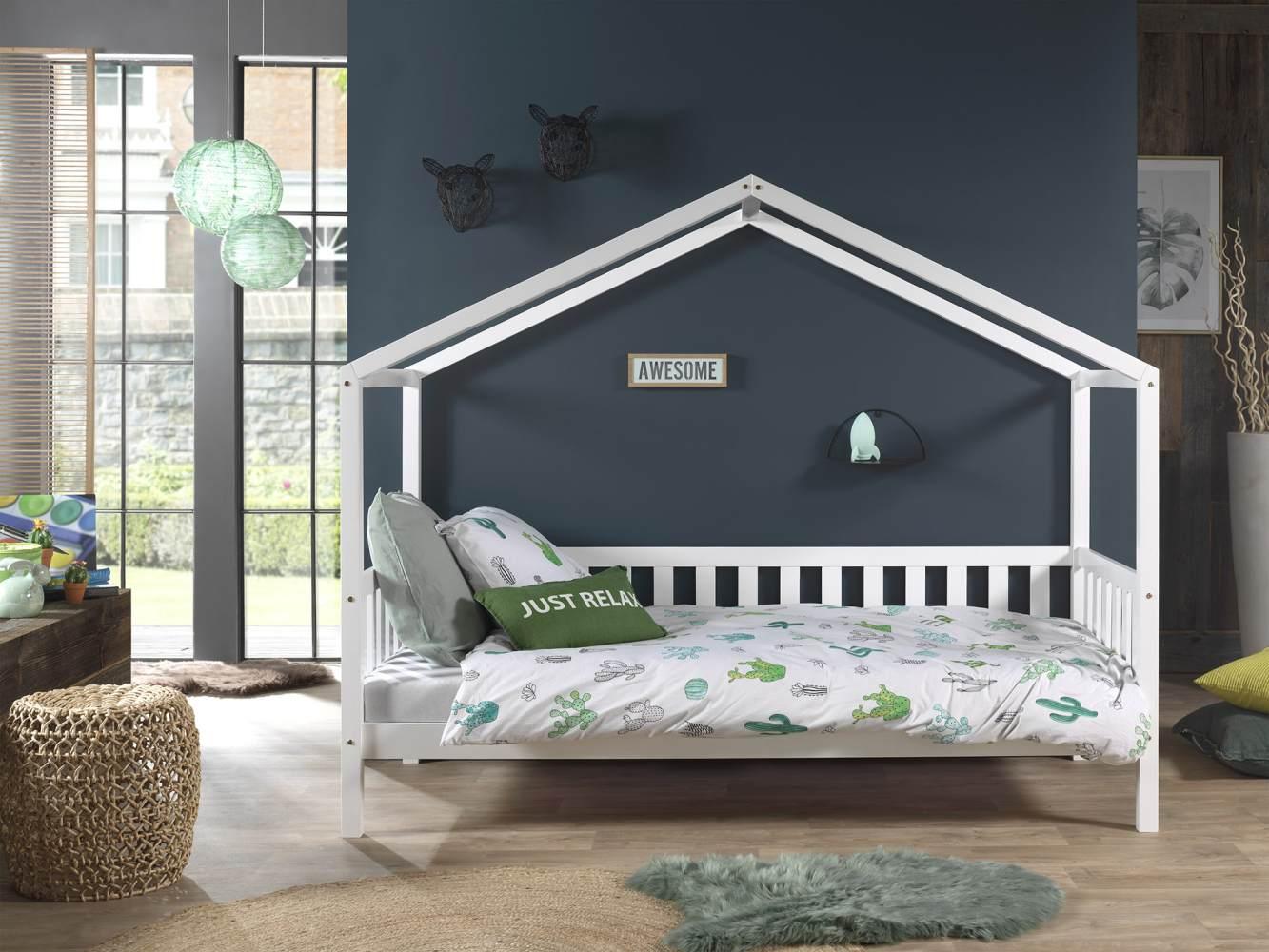Vipack 'Dallas 1' Hausbett 90 x 200 cm, weiß Bild 1