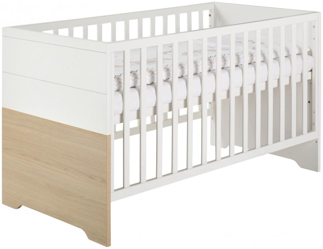 Slide Oak Kombi-Kinderbett 70x140 cm, Vicenza/weiß lackiert Bild 1