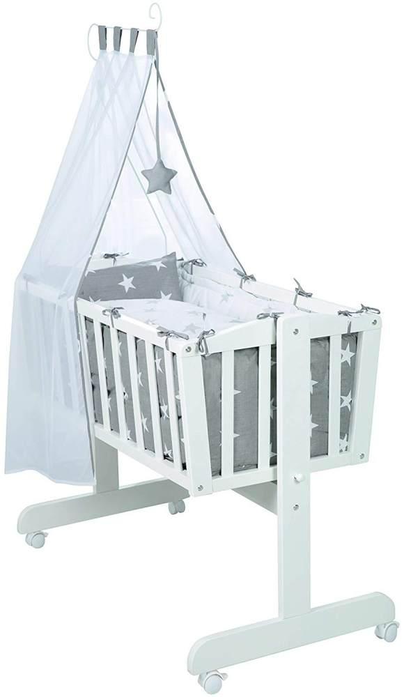Roba 'Little Star' Babywiege weiß, inkl. Ausstattung Bild 1