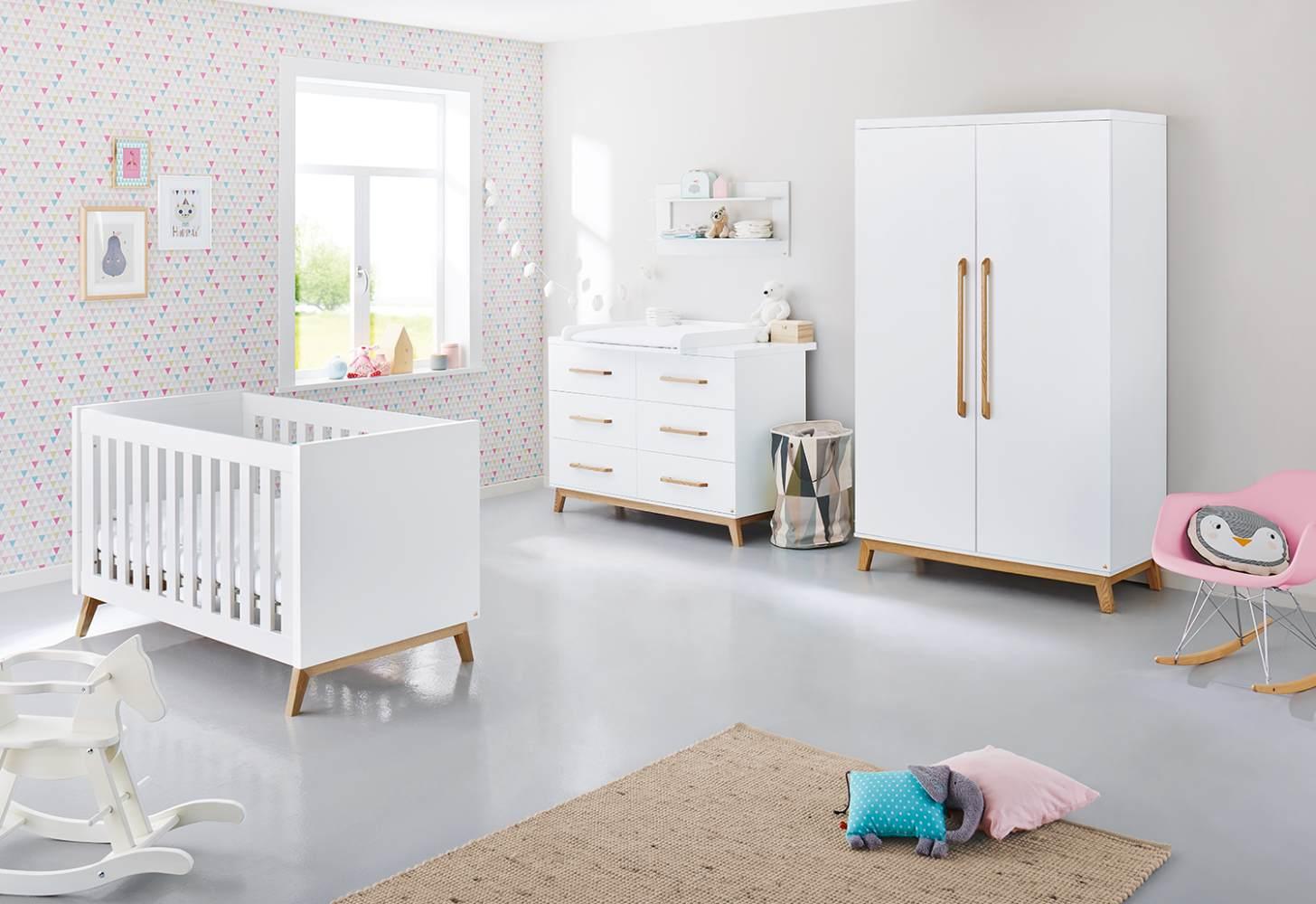 Pinolino 'Riva' 3-tlg. Babyzimmer-Set weiß, extrabreit Bild 1