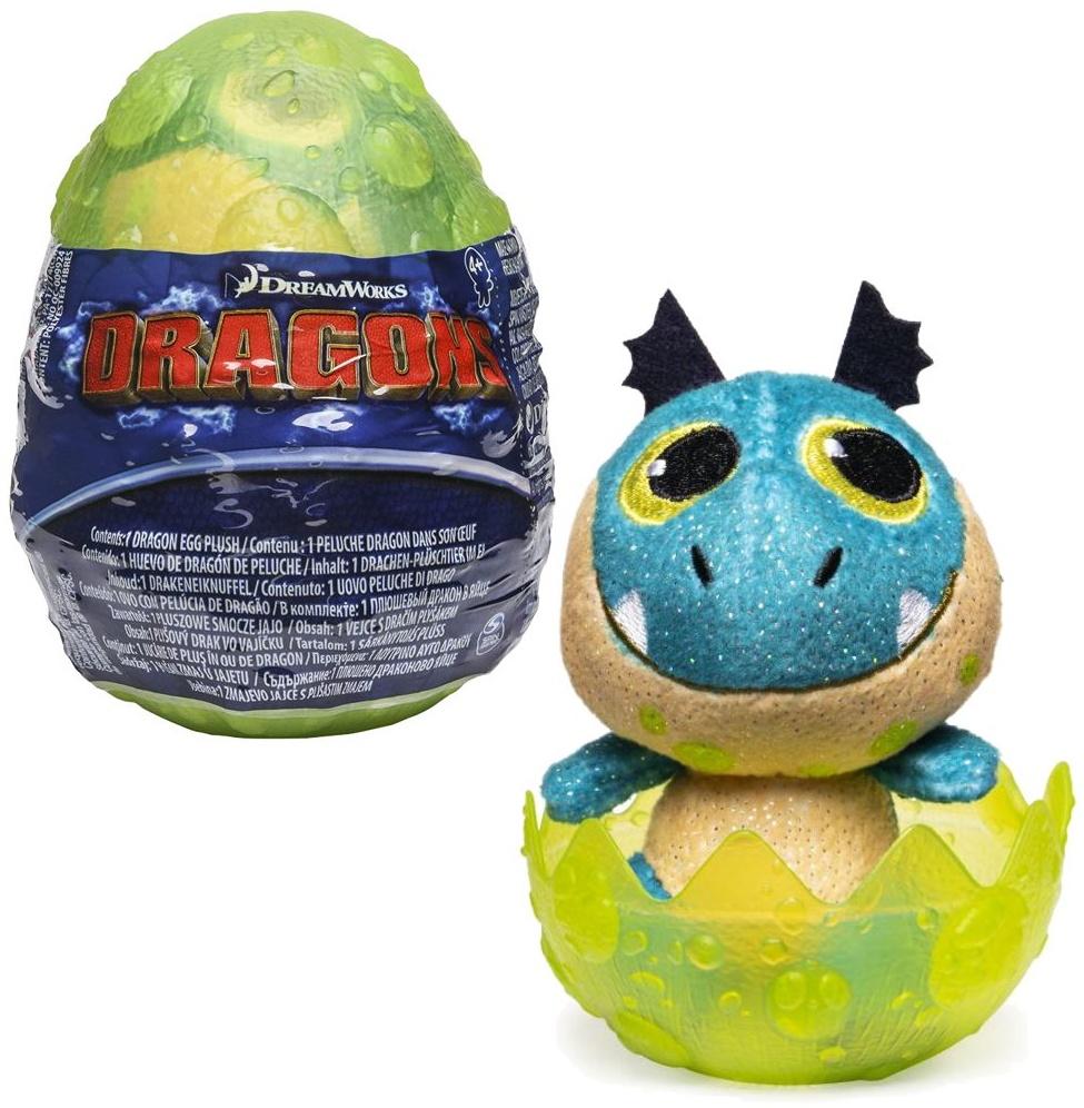 SpinMaster - Drachen-Ei | DreamWorks Dragons | Dragon-Egg Plüsch-Figur Petrol Bild 1