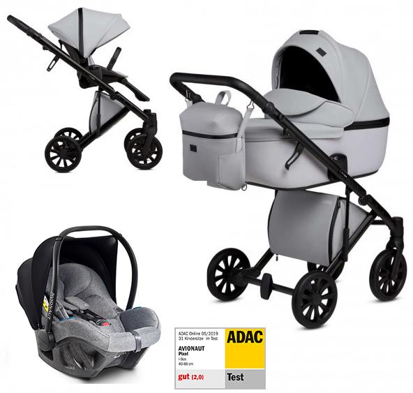 Anex 'e/type' Kombikinderwagen 4plusin1 2020 in Marble mit Avionaut Babyschale Bild 1